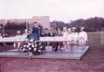 Graduation Night, June, 1970. Larry Powell at podium-- can you name the others?